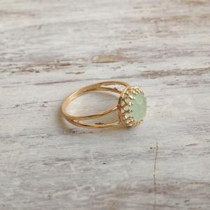Gold ring, gemstone ring, jade ring..