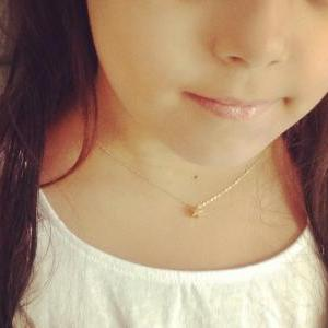 gold necklace, gold star necklace, ..