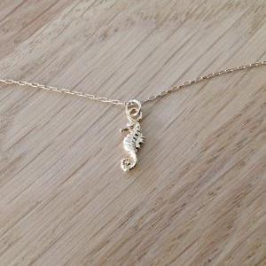 gold necklace, gold Walrus necklace..