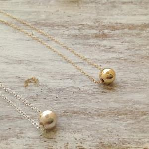Gold necklace, ball necklace, bead ..