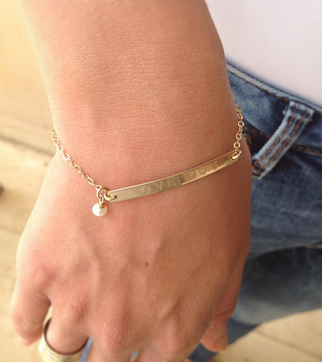 bracelet bloomboutique original bar bloom set gold personalised boutique product by perri