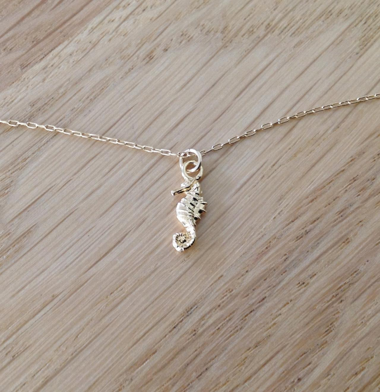 gold necklace, gold Walrus necklace, summer necklace, simple necklace, tiny gold necklace,1 petite jewelry D38