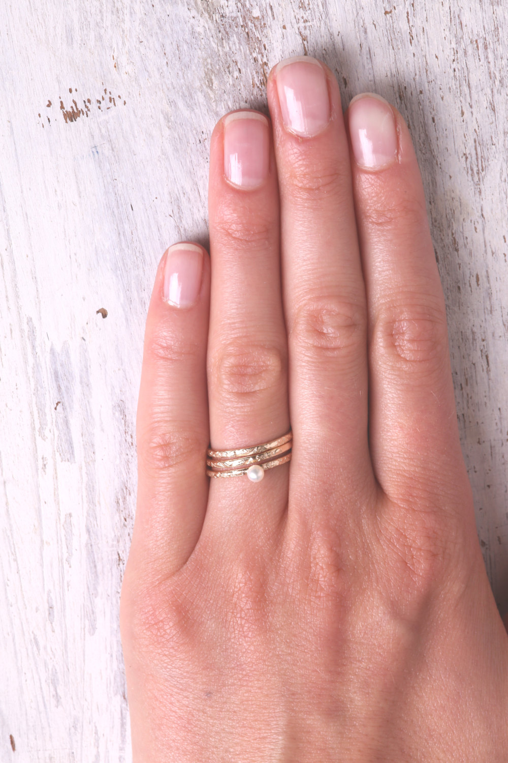 Thin Gold Ring, Stacking Rings, Set Of Gold Rings, Swarovsky Stack ...