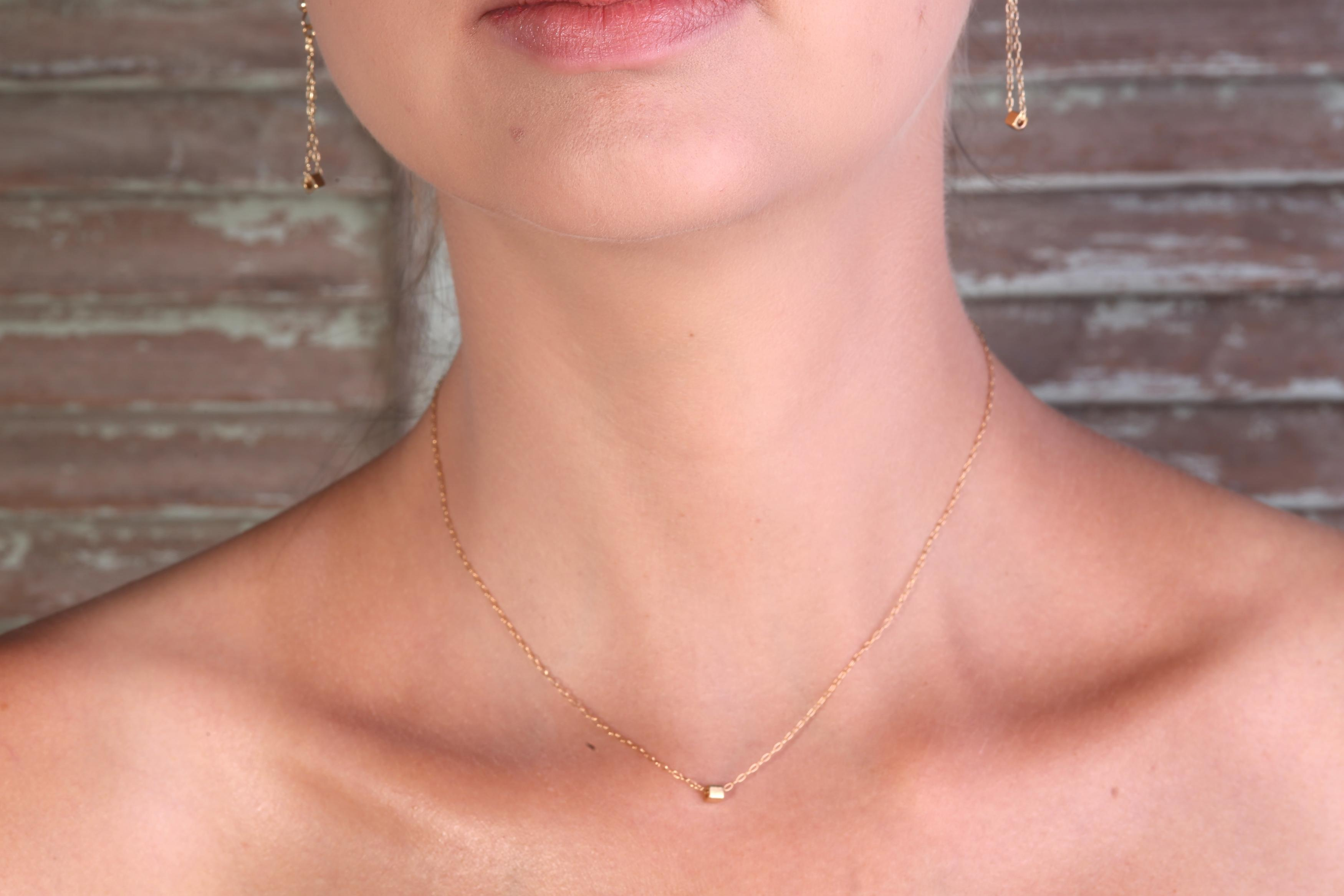 listing hammered necklace il gold fullxfull tiny moon crescent dainty