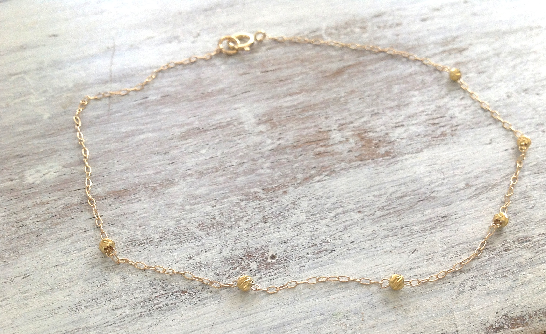 zoom en fullxfull listing anklet in chain il coin summer simple dainty gold